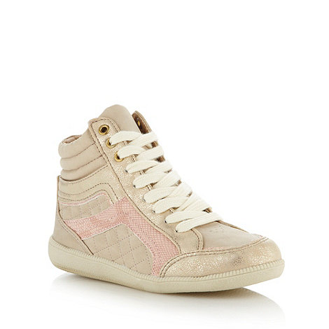 bluezoo - Girl+s natural panel high top trainers