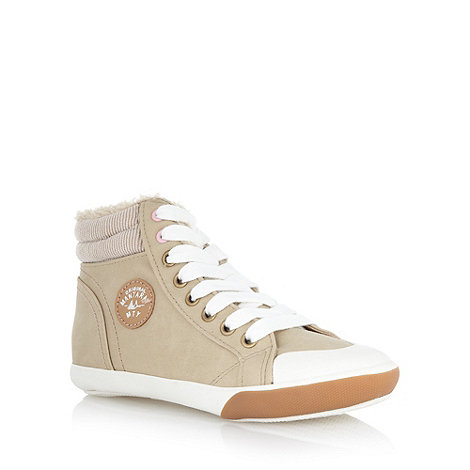 Mantaray - Girl+s natural lined high top trainers