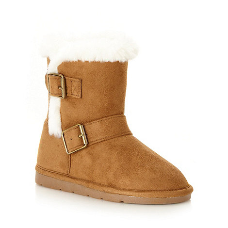 bluezoo - Girl+s tan buckle boots