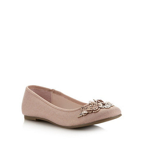 bluezoo - Girl+s natural applique butterfly pumps