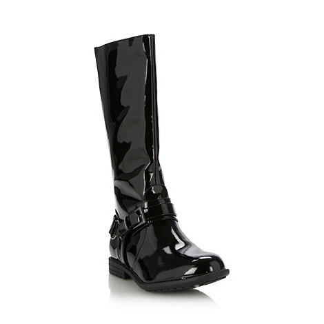 bluezoo - Girl+s black patent riding boots