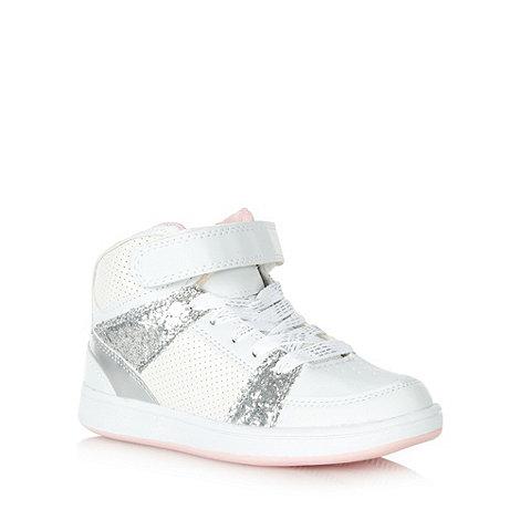 bluezoo - Girl+s white glitter effect high tops