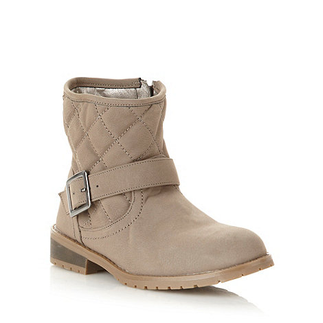 bluezoo - Girl+s natural quilted ankle boots