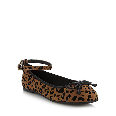 bluezoo - Girl's tan leopard pumps