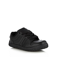 bluezoo - Boy's black lace up trainers