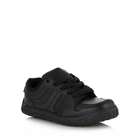 bluezoo - Boy+s black lace up trainers