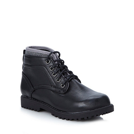 Mantaray - Boy+s black worker boots
