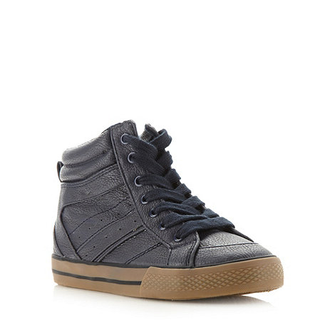 bluezoo - Boy+s navy high top trainers