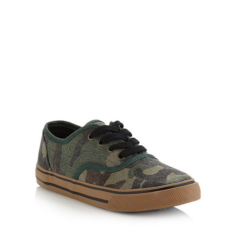 bluezoo - Boy's khaki camo trainers