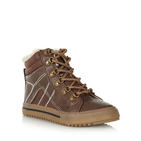 bluezoo - Boy+s brown lace up boots