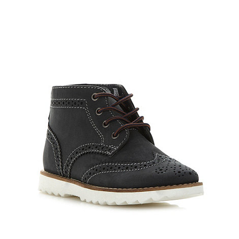 Mantaray - Boy's navy leather brogue boots