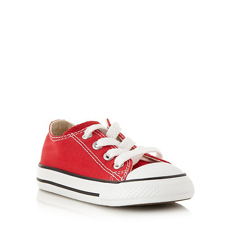 Converse - Children+s red +All Star+ canvas trainers