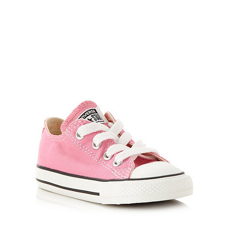 Converse - Children+s pink +All Star+ canvas trainers
