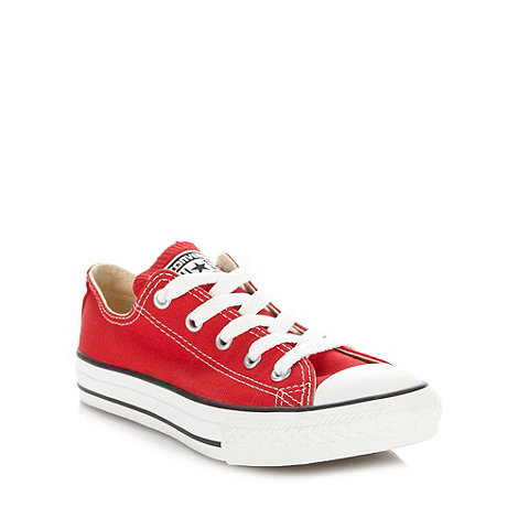 Converse - Boy+s red +All Star+ canvas trainers