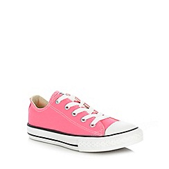 Converse - Girl's pink lo-top trainers