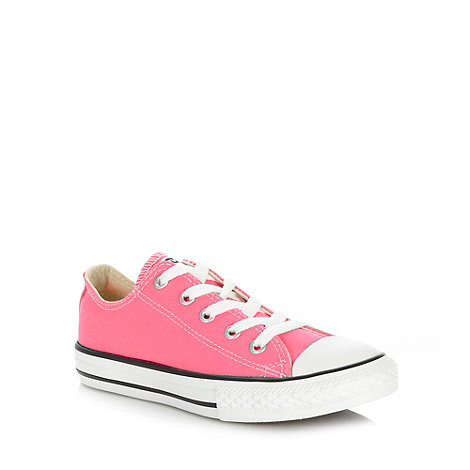 Converse - Girl+s pink lo-top trainers