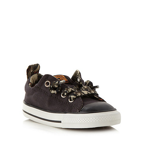 Converse - Children+s black +All Star+ camouflage lace trainers