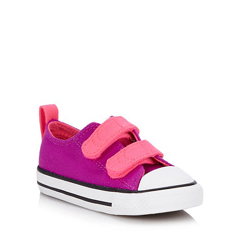 Converse - Girl+s purple trainers