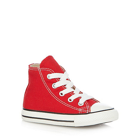 Converse - Children+s red +All Star+ hi-top trainers