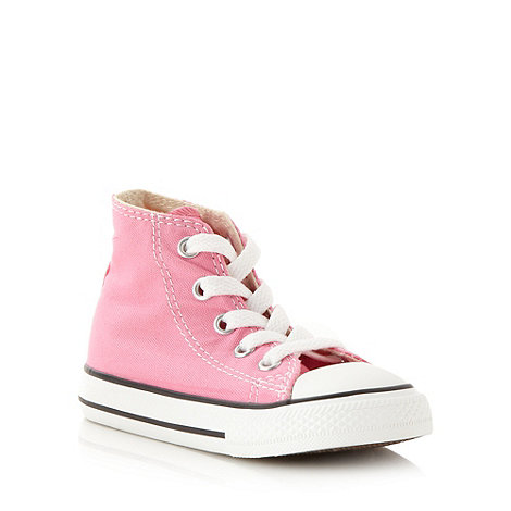 Converse - Children+s pink +All Star+ hi-top trainers