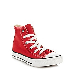 Converse - Boy's red 'All Star' hi-top trainers