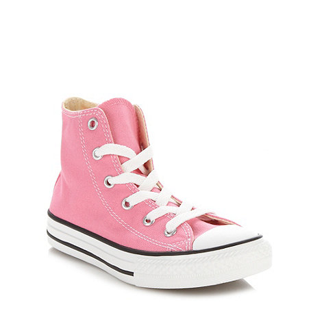 Converse - Girl+s pink +All Star+ hi-top trainers