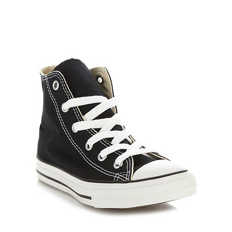 Converse - Children+s black +All Star+ hi-top trainers
