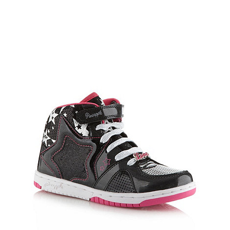 Pineapple - Girl's black star high top trainers