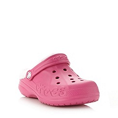 Crocs - Girl's pink fleece lined clogs