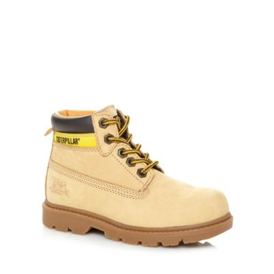 Caterpillar Boy´s tan leather ankle boots - . -