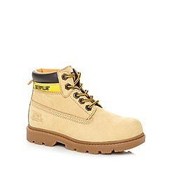 Caterpillar - Boy's tan leather ankle boots