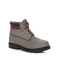 Caterpillar - Boy's grey leather ankle boots