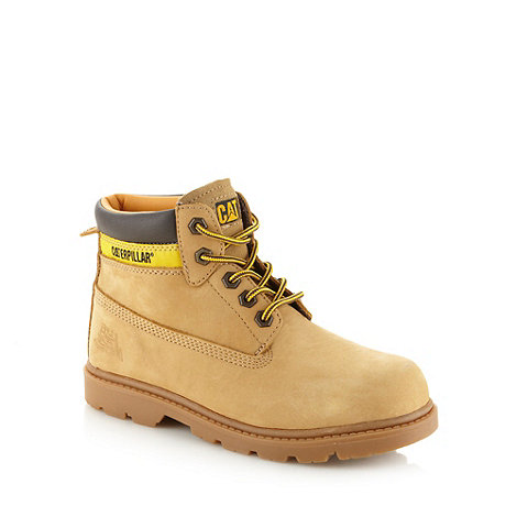 Caterpillar - Boy+s tan leather boots