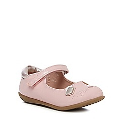 bluezoo - Girls' pink mouse applique shoes