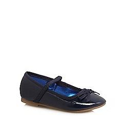 bluezoo - Girls' navy patent ballet pumps