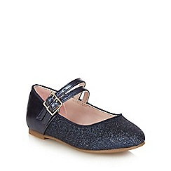 J by Jasper Conran - Girls' navy glitter pumps