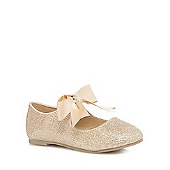 RJR.John Rocha - Girls' gold glitter pumps