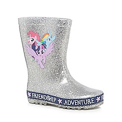 My Little Pony - Girls' silver 'My Little Pony' wellies