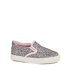 bluezoo - Girls' multi-coloured glittery slip on trainers