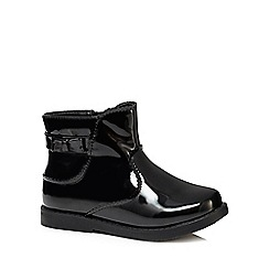 bluezoo - Girls' black patent 'Isabella' ankle boots
