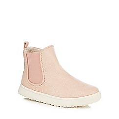 Mantaray - Girls' pink faux fur-lined ankle boots