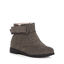 J by Jasper Conran - Girls' grey suede ankle boots