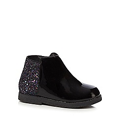 bluezoo - Girls' black glitter ankle boots