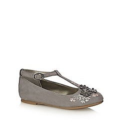 RJR.John Rocha - Girls' grey suedette pumps