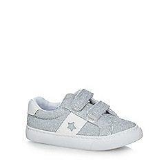 bluezoo - Girls' silver glitter trainers