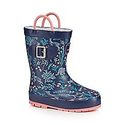 Mantaray - Girls' navy wellies