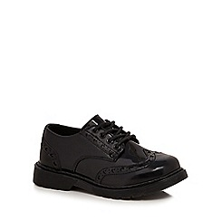Debenhams - Girls' black scuff resistant patent brogues