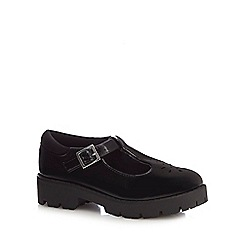 Debenhams - Girls' black school shoes