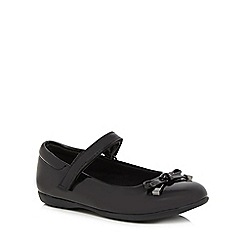 Debenhams - Girls' black scuff resistant patent ballet pump school shoes