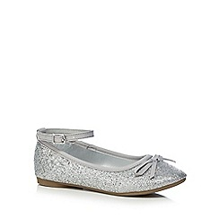 bluezoo - Girls' silver glitter pumps
